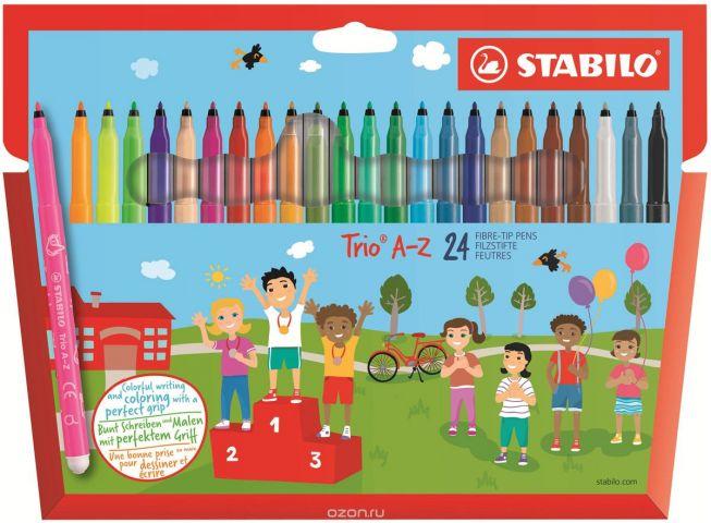 Stabilo Набор фломастеров Trio A-Z 24 цвета