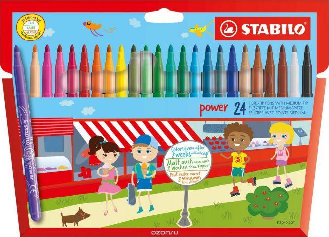 "Фломастеры Stabilo ""Power"", 24 цвета"