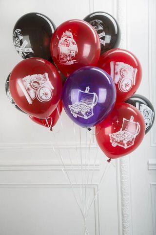 Latex Occidental Набор воздушных шаров с лентами Пиратская вечеринка 50 шт
