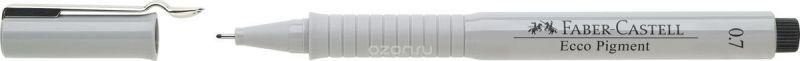 Faber-Castell Ручка капиллярная Ecco Pigment 0,7 мм цвет чернил черный