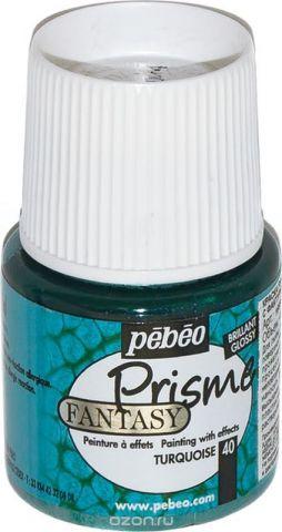 Pebeo Краска Fantasy Prisme с фактурным эффектом цвет 166040 бирюзовый 45 мл