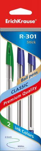 Erich Krause Набор шариковых ручек R-301 Classic 1.0 Stick 3 шт 42620