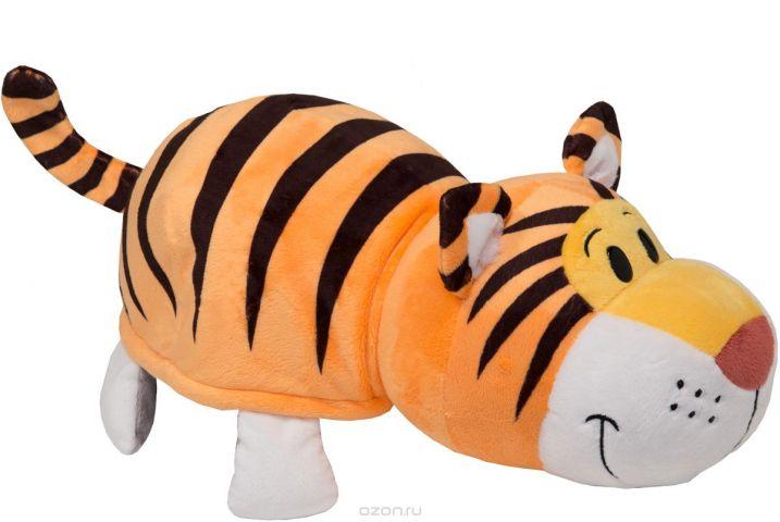 1TOYМягкая игрушкаВывернушка 2в1 Тигр-Слон длина 35 см