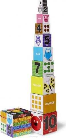 Melissa & Doug Обучающая игра Цифры формы и цвета блоки