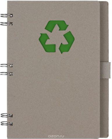 Fiteko Тетрадь 70 листов цвет серый зеленый RPT-08