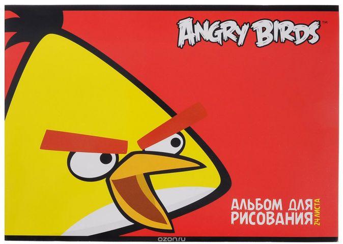 """Альбом для рисования """"Angry Birds"""", 24 листа. 24А4вмB_10352"""
