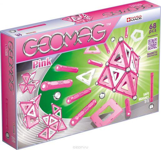Geomag Конструктор магнитный Pink 68 элементов
