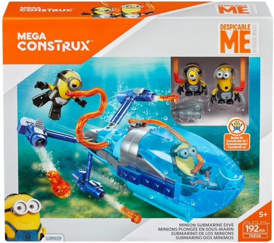Mega Bloks/Mega Construx Кораблик Гадкий Я-3 Субмарина
