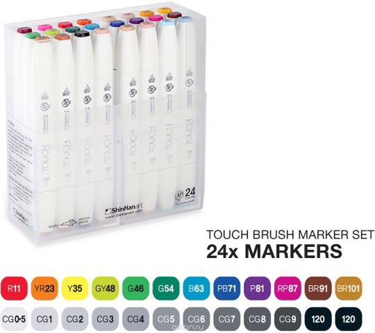 Touch Набор маркеров Brush 24 цвета