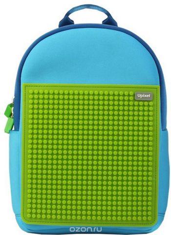 Upixel Детский рюкзак Rainbow Island цвет голубой зеленый