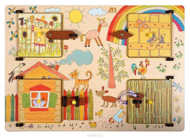 Деревянные игрушки Бизиборд Ферма