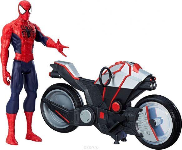 Spider Man Игрушка фигуркаЧеловек паук и мотоцикл