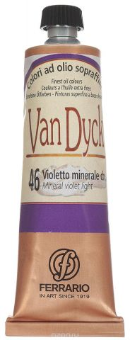 Ferrario Краска масляная Van Dyck цвет №46 минеральный фиолетовый светлый 60 мл