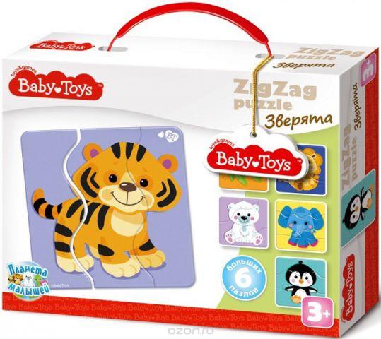 Baby Toys Пазл для малышей Зигзаг Зверята