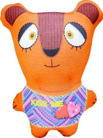 """Подушка-игрушка антистрессовая Штучки, к которым тянутся ручки """"Звери вязаные. Медведь"""". 14аси38ив-4"""