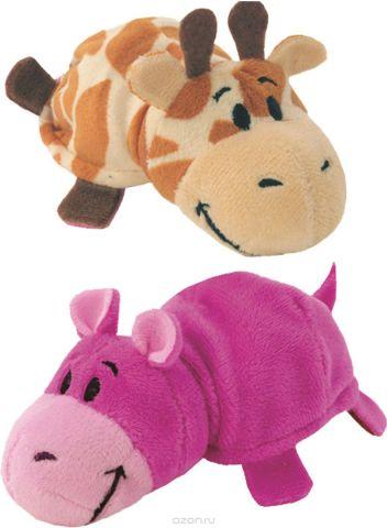 1TOYМягкая игрушкаВывернушка 2в1 Жираф-Бегемот 12 см