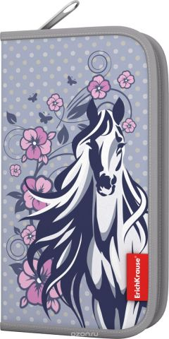 Erich Krause Пенал-книжка с наполнением White Horse
