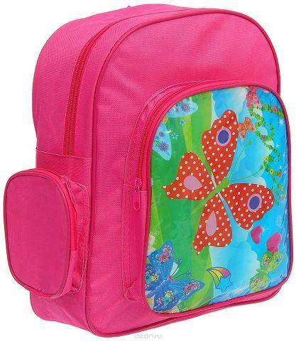 Рюкзак детский Бабочки цвет розовый 1216847
