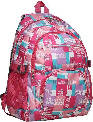 Рюкзак детский Клетка цвет розовый 1675390