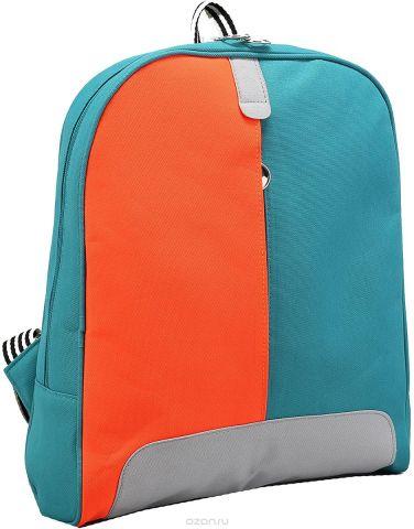 Рюкзак детский Пижон цвет бирюзовый оранжевый 2798279