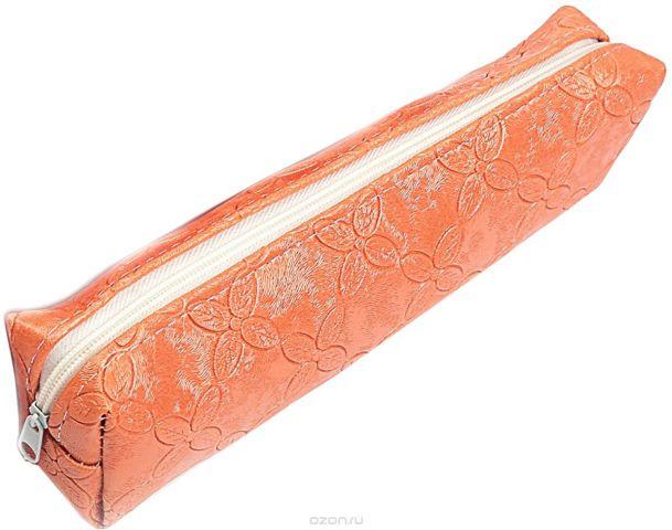 Calligrata Пенал школьный Путешествие цвет оранжевый 2879239