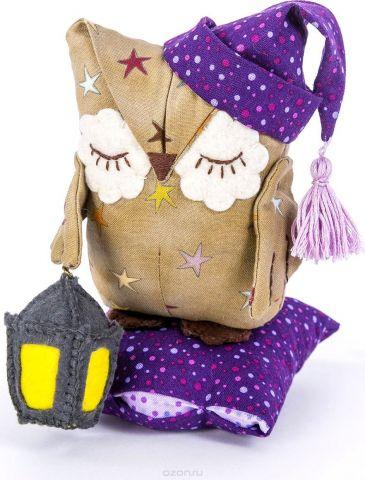 """Набор для изготовления текстильной игрушки Перловка """"Совенок Дрема"""", высота 14,5 см"""