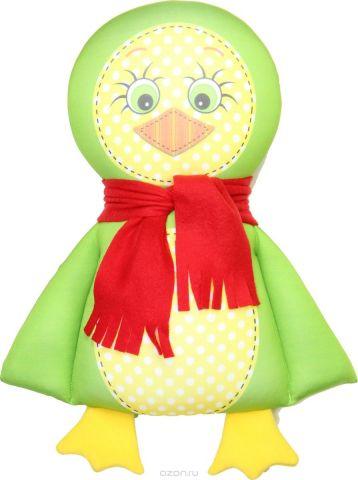 Штучки, к которым тянутся ручки Подушка-игрушка антистрессовая Пингвин цвет зеленый