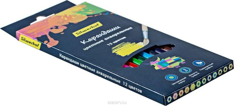 Silwerhof Набор цветных акварельных карандашей 2B 12 шт 134213-12