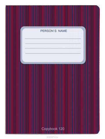 Проф-Пресс Тетрадь 120 листов в клетку цвет красный синий