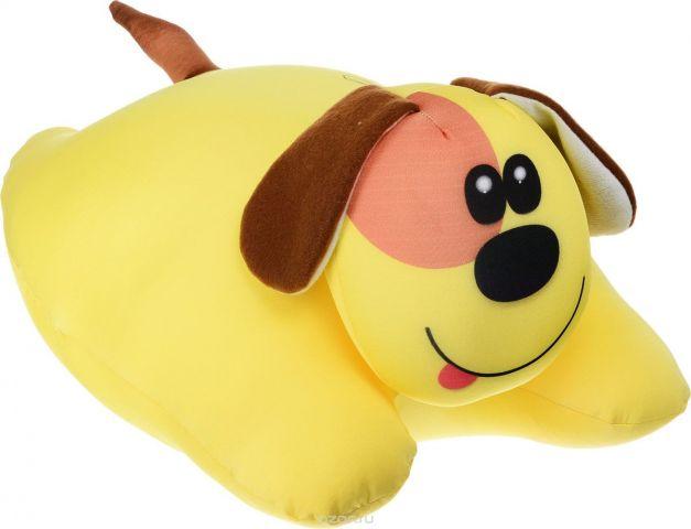 Штучки, к которым тянутся ручки Подушка-игрушка антистрессовая Собачка сердечная цвет желтый