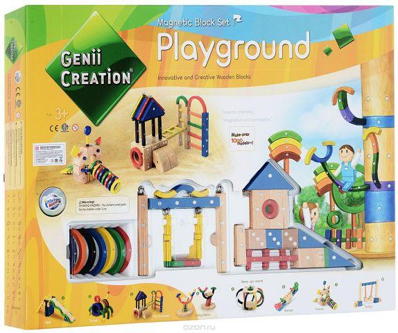 Genii Creation Конструктор деревянный Детская площадка