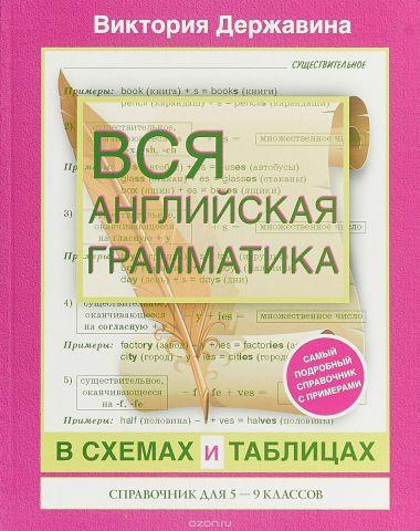 Вся английская грамматика в схемах и таблицах. 5-9 класс. Справочник
