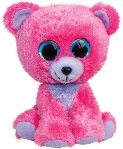 "Игрушка мягкая Lumo ""Мишка Raspberry"", цвет: розовый, 24 см"