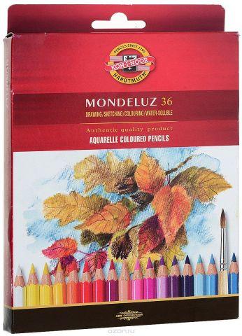 Набор карандашей акварельных MONDELUZ, 36 цв