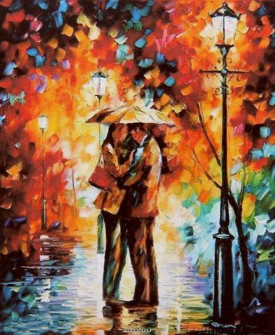 """Картина по номерам Школа талантов """"Пара под зонтом"""", 2461698, 30 х 40 см"""