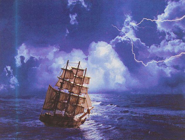 "Картина по номерам Школа талантов ""Гроза в море"", 3462664, 30 х 40 см"