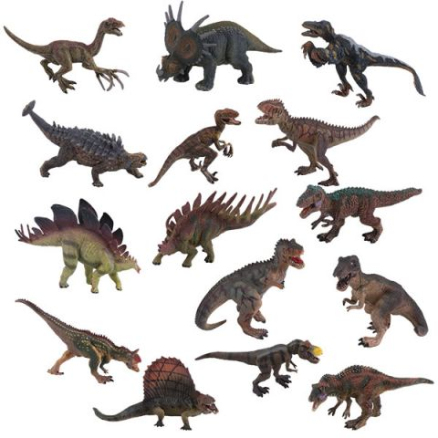 "Игрики ZOO TAV012 Фигурка ""Динозавр"", 15 видов (в ассортименте)"