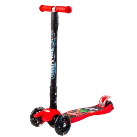 Hot Wheels HW5PR1 Самокат 3-х колесный, красный, размеры: 57х22х90см