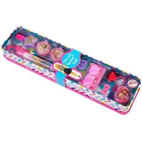 Markwins 9803451 Barbie Игровой набор детской декоративной косметики в пенале откр.