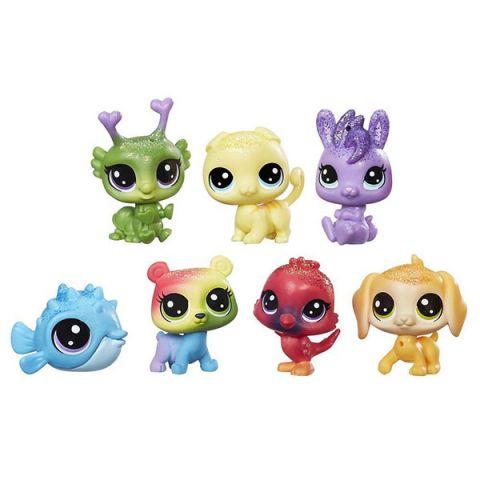 Hasbro Littlest Pet Shop C0795 Литлс Пет Шоп: Радужная коллекция - 7 радужных петов