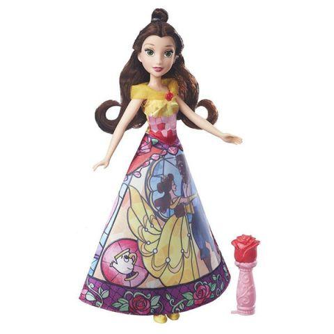Hasbro Disney Princess B5295/B6850 Модная кукла Принцесса с проявляющимся принтом Белль