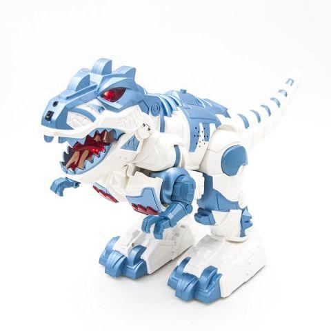 HK Industries 6028A Робот-Динозавр (трансформер),белый с синим, р/у