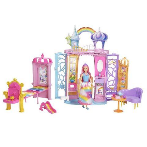 Mattel Barbie FRB15 Барби Переносной радужный дворец