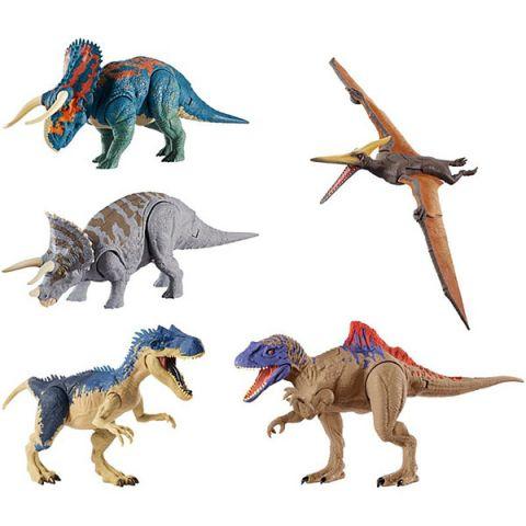 """Mattel Jurassic World GDT38 Базовые фигурки динозавров """"Двойной удар"""" (в ассортименте)"""