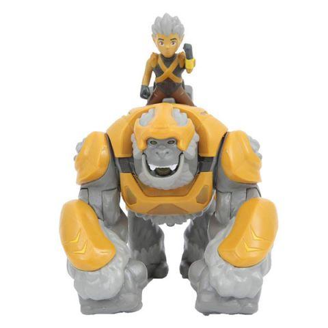 Gormiti GRM05000-1 Фигурка героя в комплекте с чудовищем - Горок и Трек (с подсветкой и звуком)