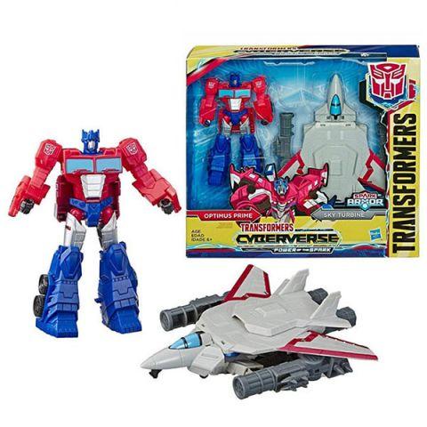 Hasbro Transformers E4220/E4328 Трансформеры Спарк Армор Оптимус Прайм 18 см