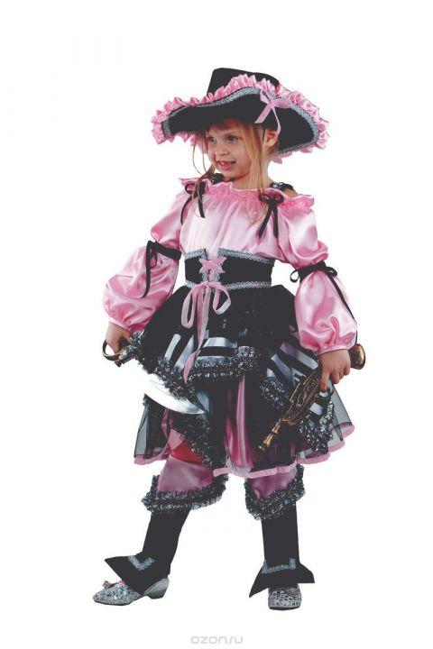 0f1fd7aef3da Купить Батик Костюм карнавальный для девочки Пиратка цвет розовый ...