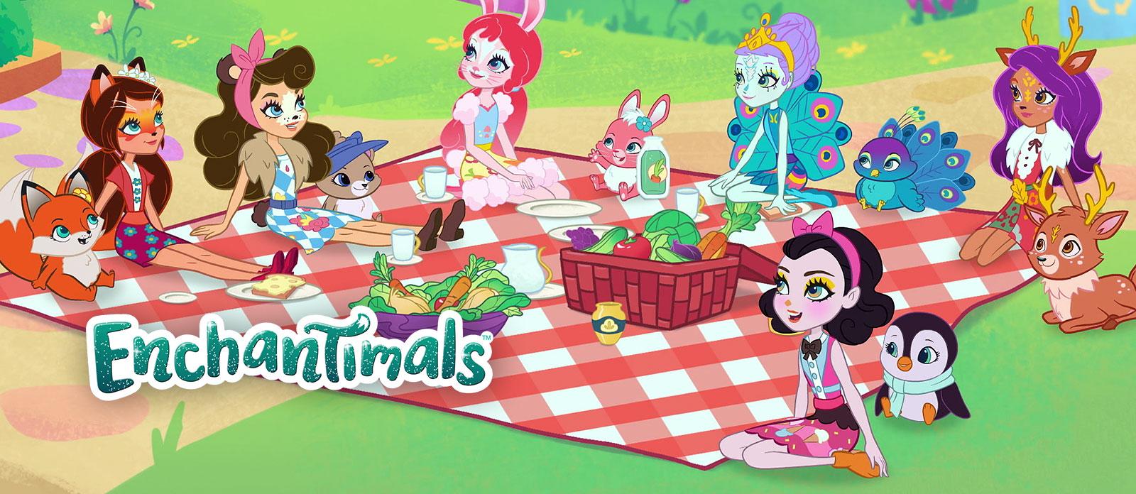 Mattel Enchantimals FKV56 Морские подружки с друзьями